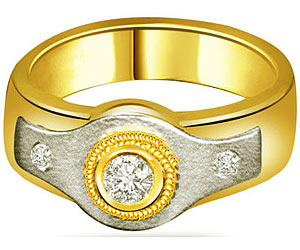 0.30 cts Diamond Solitaire Two Tone rings