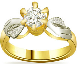 0.30 cts Two Tone 18K Engagement rings -18k Engagement rings