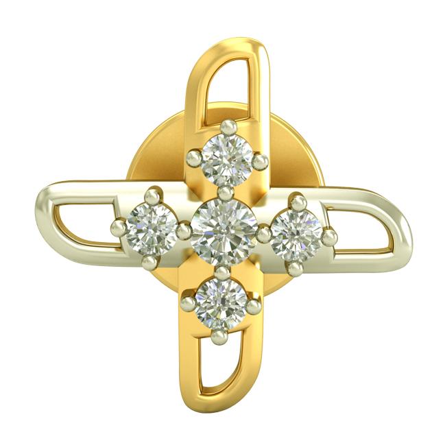 0.30cts Two Tone Diamond Earrings -Two Tone Earrings