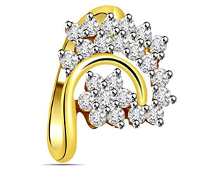 0.30cts Flower Shaped Diamond rings