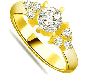 0.32 cts Diamond 18K Engagement rings -18k Engagement rings