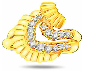 0.32 cts Elegant Diamond rings In 18K Gold