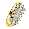 0.32cts Diamond rings -Yellow Gold Eternity rings