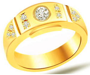 0.35 cts Classic Yellow Gold Diamond B