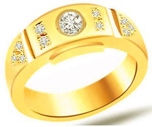0.35 cts Classic Yellow Gold Diamond B