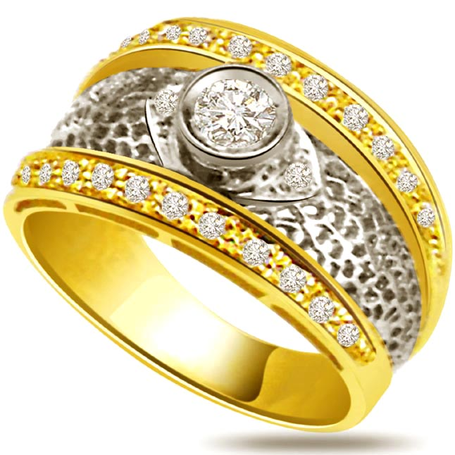 Designer Diamond RingsGold Ring Eternity Wide Bands for Men
