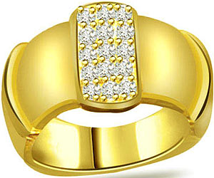 0.35 cts Diamond Wide B rings in 18k Gold