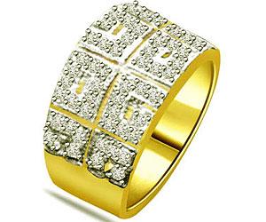 0.35 cts Diamond Wide B 18K rings