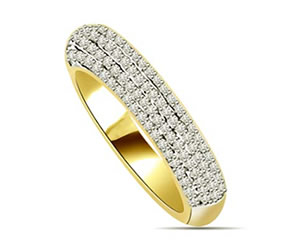 0.35cts Diamond Yellow Gold Eternity rings