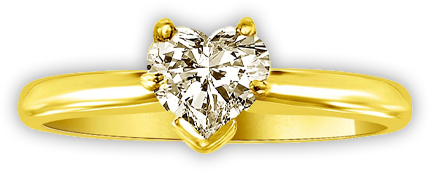 0.35cts E/VVS1 Heart Diamond rings