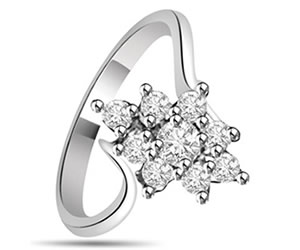 0.37 cts White Gold Diamond rings -Designer