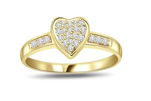 0.38 cts Diamond Heart Shape rings