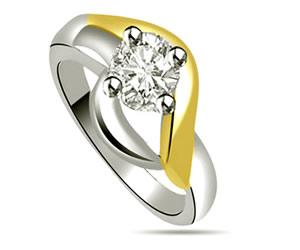 0.40 ct Diamond rings -18k Engagement rings