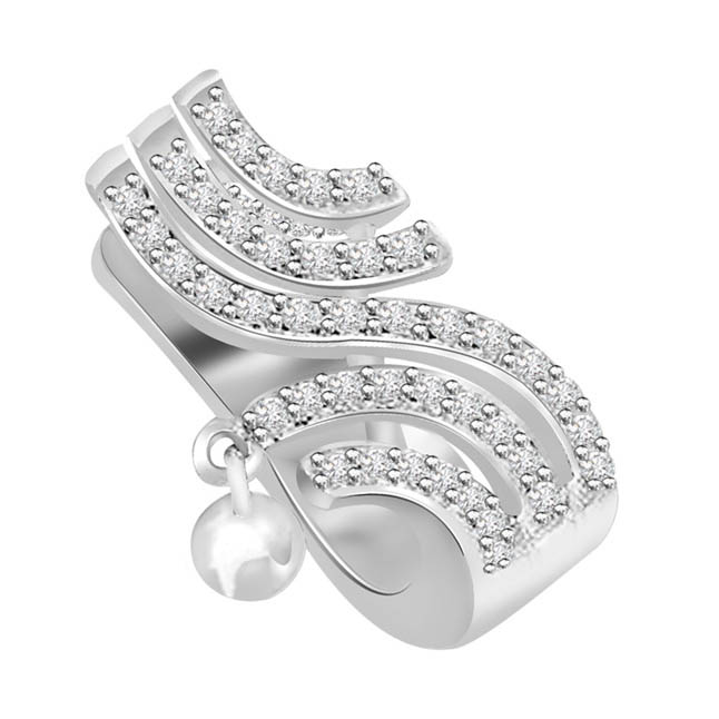 0.40 cts Diamond White Gold 14K Pendants -White Gold