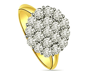 0.40 cts Flower Shape Diamond rings