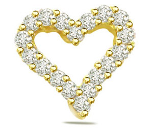 0.40ct Diamond Heart Shape Pendants