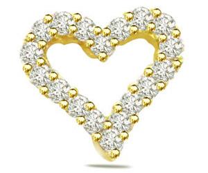 0.40ct Diamond Heart Shape Pendants
