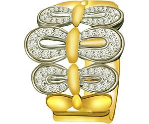0.42cts Wide B Diamond rings
