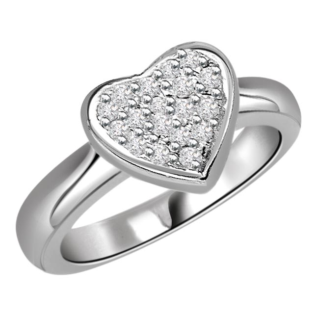 0.44 cts Diamond Heart Shape rings