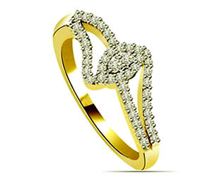 0.44 cts White Yellow Gold Diamond rings