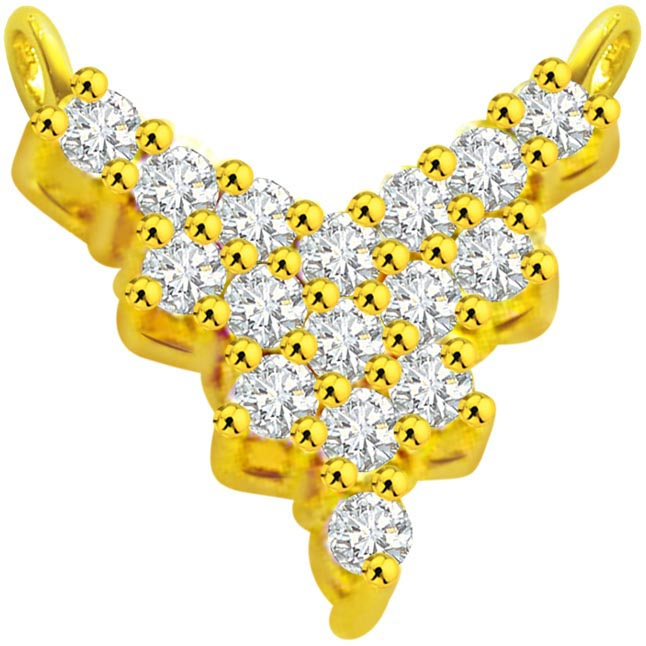 0.48 ct Diamond Necklace Pendants