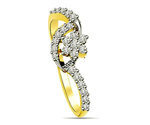 0.48 cts Flower Shape Diamond rings