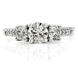 0.48TCW E /VS1 Cert Sol Diamond Bridal rings with Accents -Rs.40000 -Rs.100000