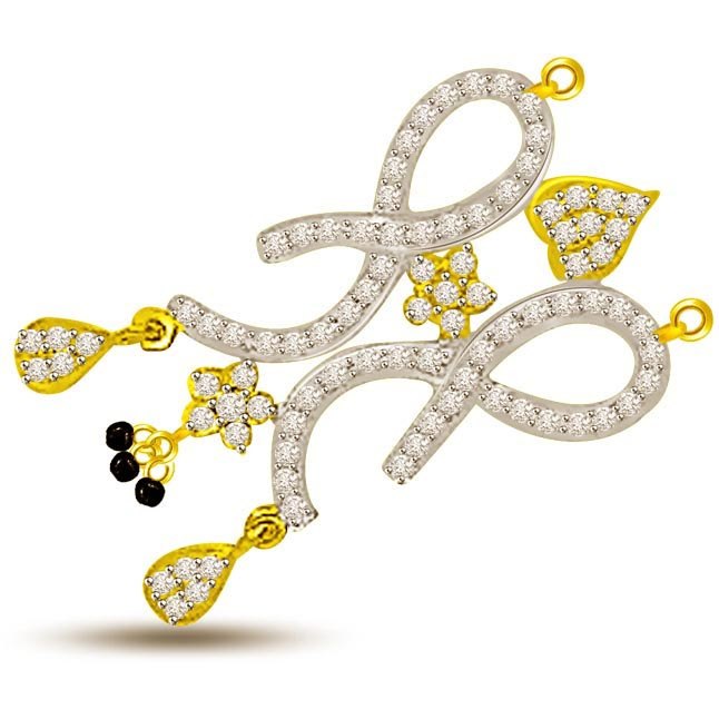 0.49ct Two Tone Designer Diamond Mangalsutra