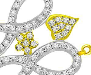 0.49ct Two Tone Designer Diamond Mangalsutra