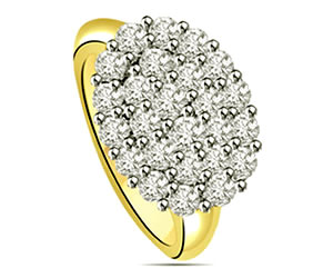 0.50 cts Diamond White Yellow Gold rings