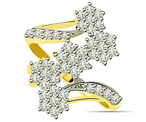 0.50 cts Flower Shape Diamond rings