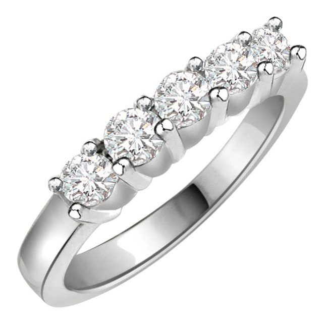 0.50ct Romantic Diamond rings -White Rhodium rings