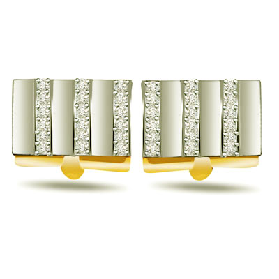 0.50ct Diamond Gold Cufflinks -Cufflinks