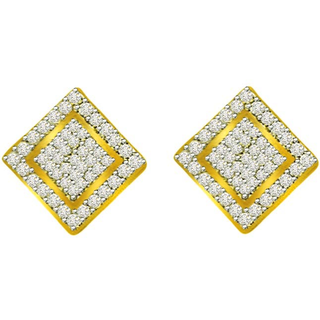 0.50ct Diamond Gold Earrings -Designer Earrings