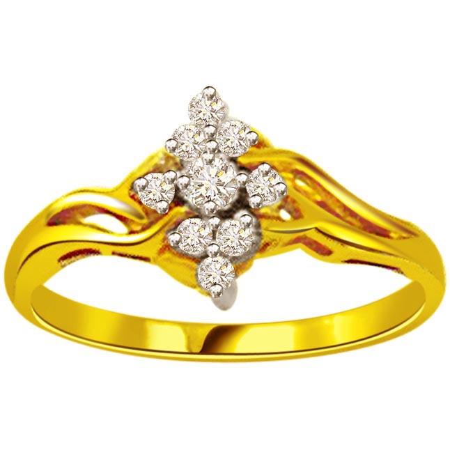 0.50ct Diamond Yellow Gold rings