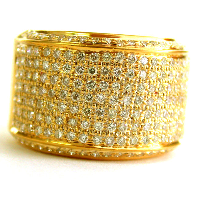 White Yellow Gold Rings Two Toned Diamond Ring Wedding and