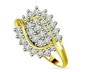 0.54 cts Flower Shaped Diamond rings