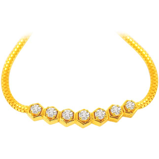 0.55 cts Diamond Necklaces DN155 -Solitaire Mangalsutra