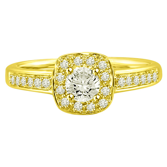 0.55TCW F /VVS1 GIA Diamond Engagement rings with Accents -Rs.100001 -Rs.150000