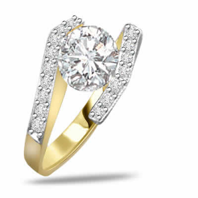 0.56ct Diamond Gold rings SDR1203 -Yellow Gold Eternity rings