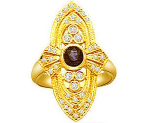 0.57 cts Diamond & Sapphire Gold rings