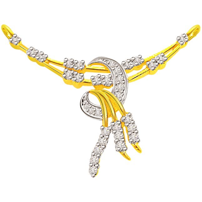 0.59 ct Diamond Necklace Pendants DN87