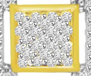 0.60 cts Three Square Diamond Pendants -Designer Pendants