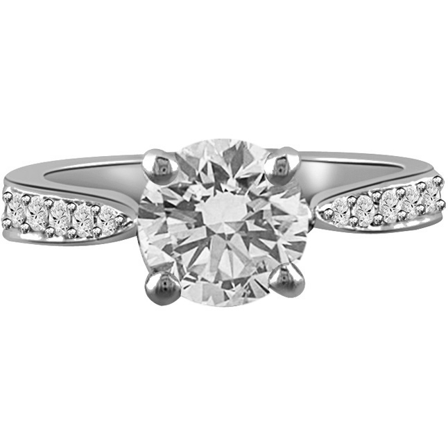 0.60TCW GIA Cert F/SI1 Diamond Engagement rings 14k Gold -Rs.150001 -Rs.200000