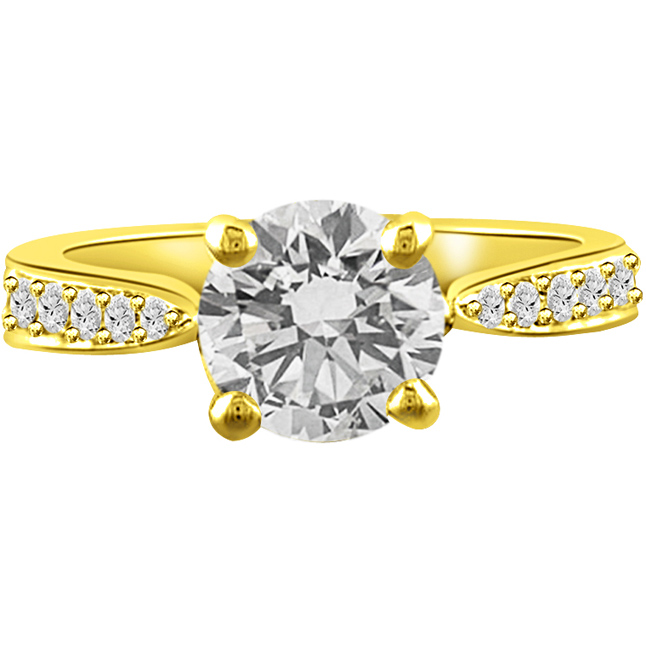 0.60TCW GIA Cert F/SI1 Diamond Engagement rings 18k Gold -Rs.150001 -Rs.200000