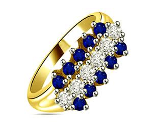 0.64 cts Diamond & Sapphire rings