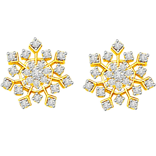 0.68 cts Diamond Earrings -Kudajodi