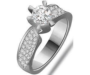 0.70 cts Diamond White Gold Engagement rings -Designer