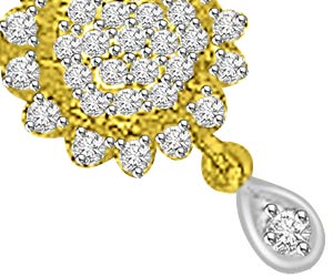 0.73ct Very Traditional Design Diamond Mangalsutra Pendants