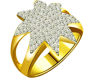 0.75 cts Star Shape Two Tone Diamond rings